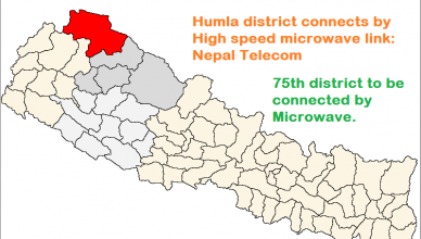 Humla connects by Microwave telecom