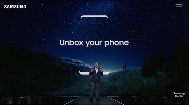 Unbox your phone S8 samsung