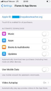 Automatic download off iPhone