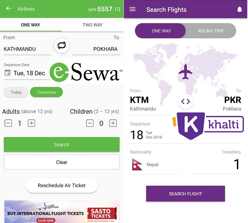 How to buy domestic flights tickets online in Nepal?