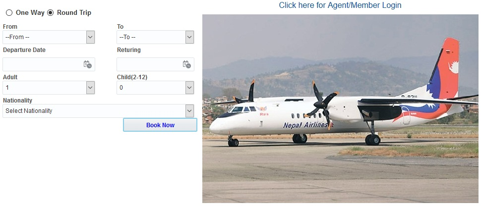 Nepal Airlines starts online ticket booking for domestic flights
