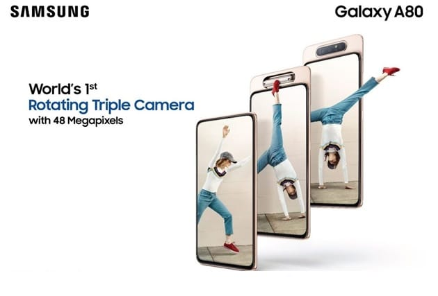 Samsung launches Galaxy A80 with World's First 48MP Rotating Triple Camera