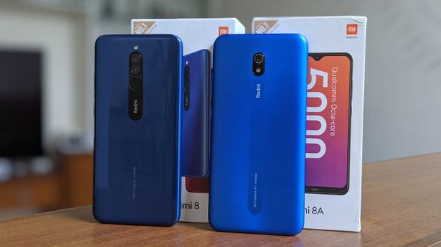 redmi 8 and 8a design