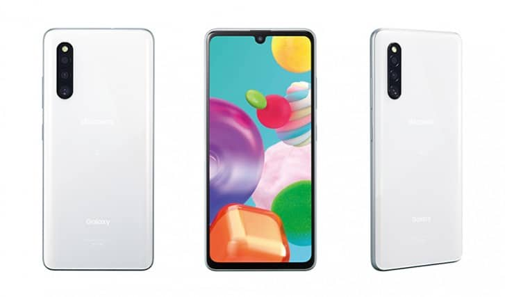 galaxy a41 design and display