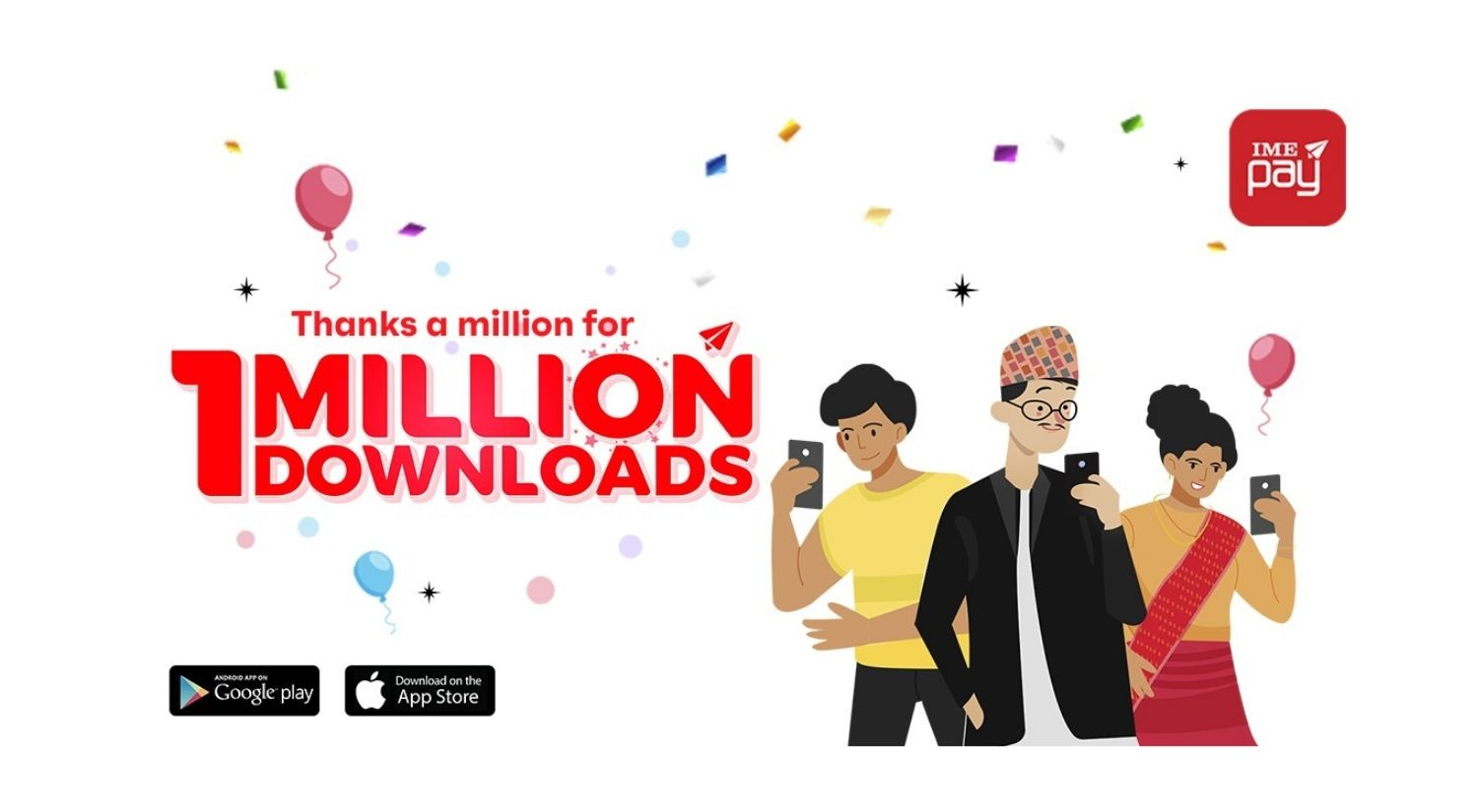 IME pay App download 1 million