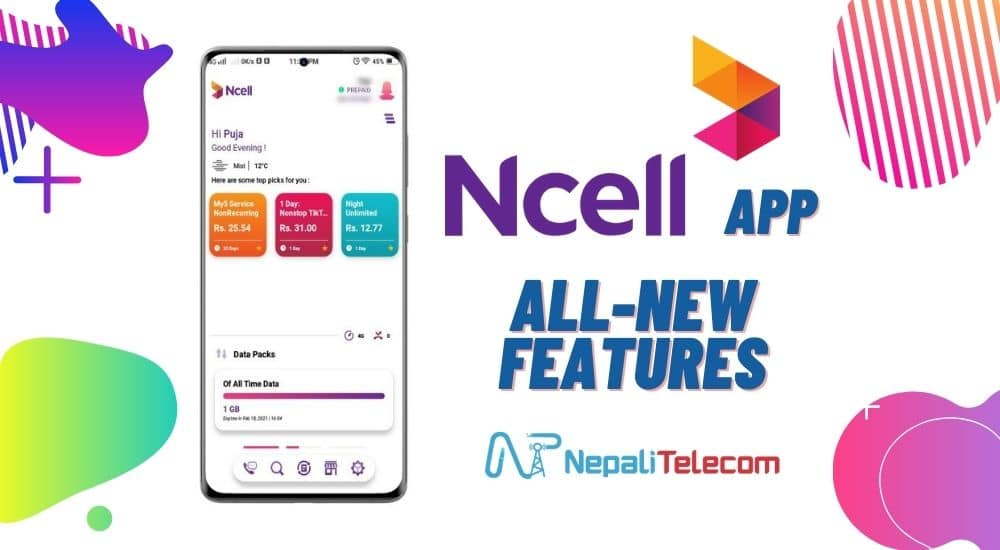 ncell app new features update