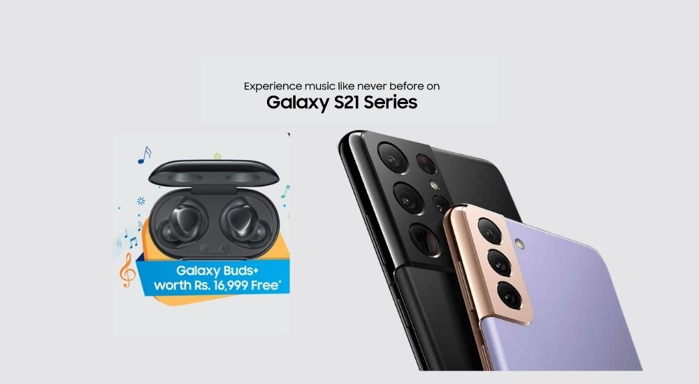 Samsung Buds+ free with S21 Series