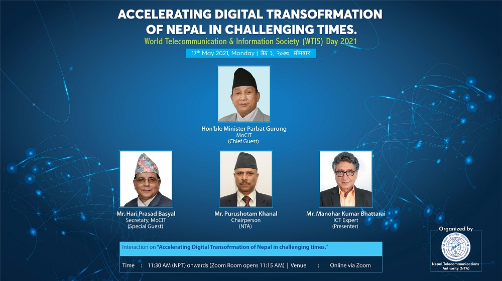 Accelerating Digital Transformation in Challenging times Nepal world telecom day