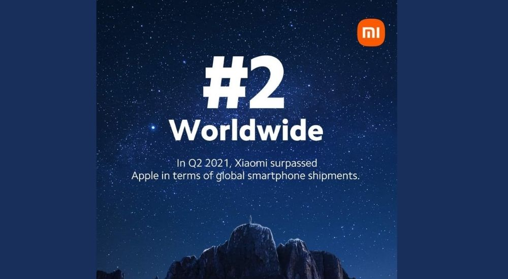 Xiaomi second position globally
