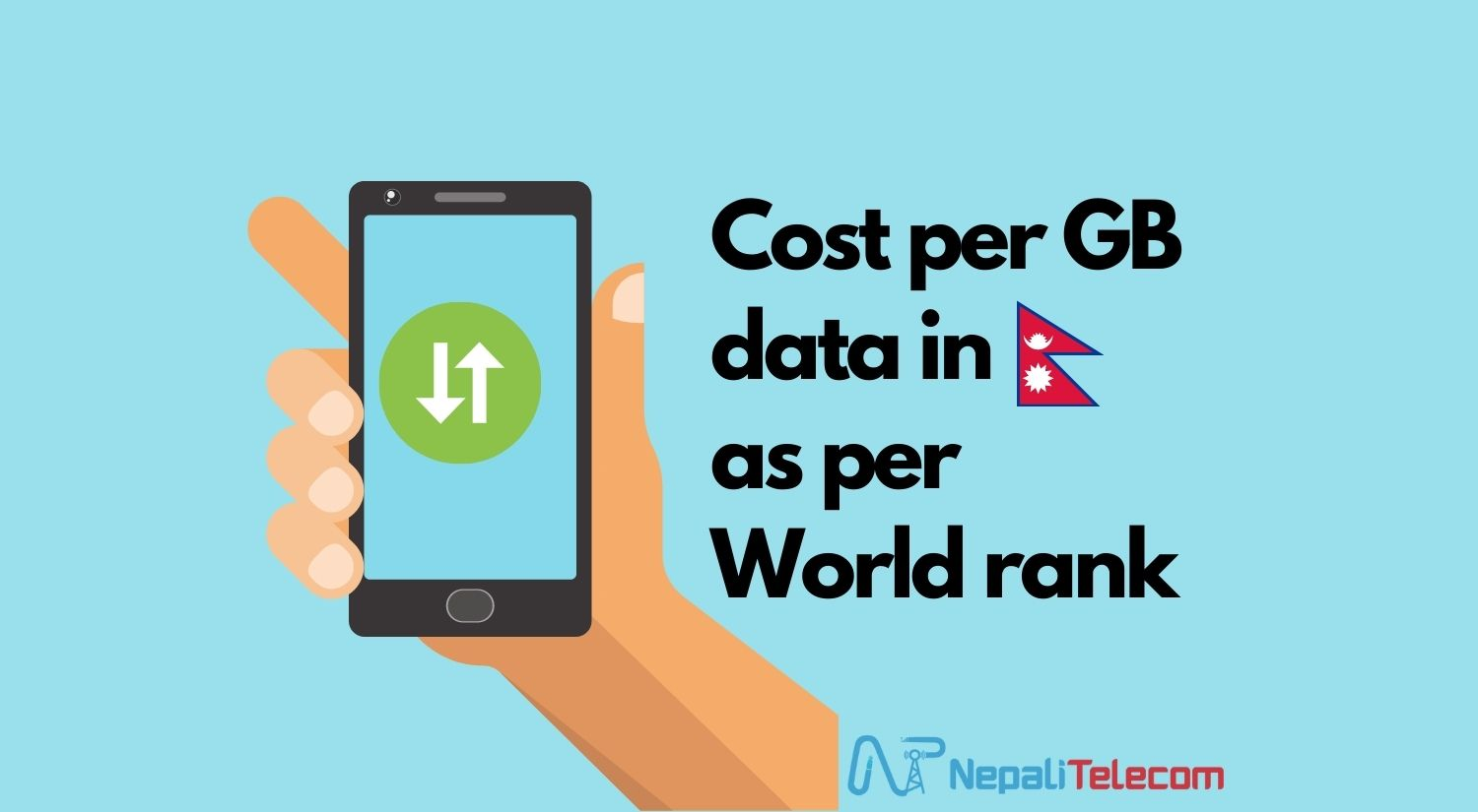 Cost per GB mobile data in Nepal and work rank